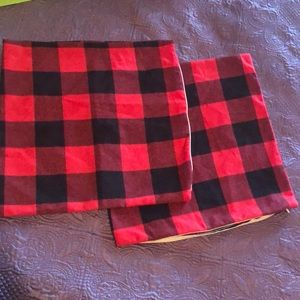 Buffalo Plaid flannel pillow covers